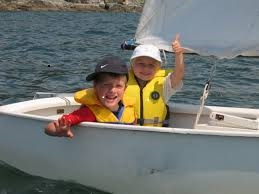 kids in Dinghy